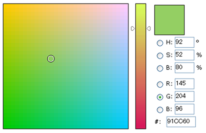PhotoShop-like JavaScript Color Picker